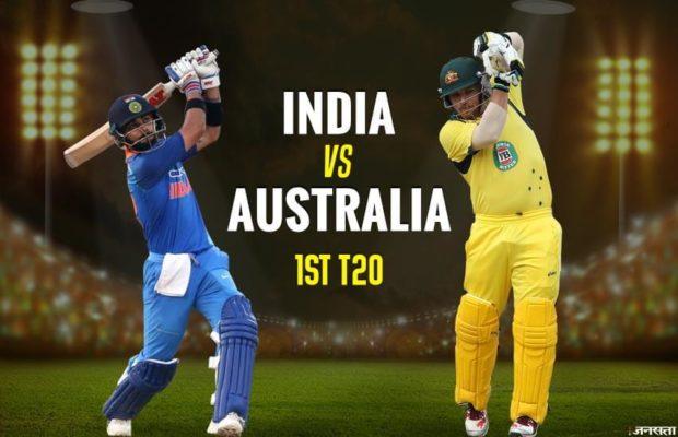 1st India vs Australia T20 Match : India lose in rain-shortened match
